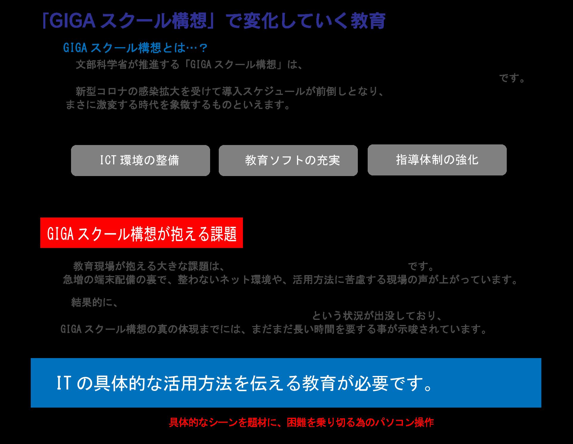 JパソコンスクールとGIGAスクール構造